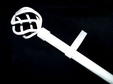 19mm Gloss White Eyelet Curtain Pole System Cage Ball Finials 1.2m 1.5m 2.4m 3